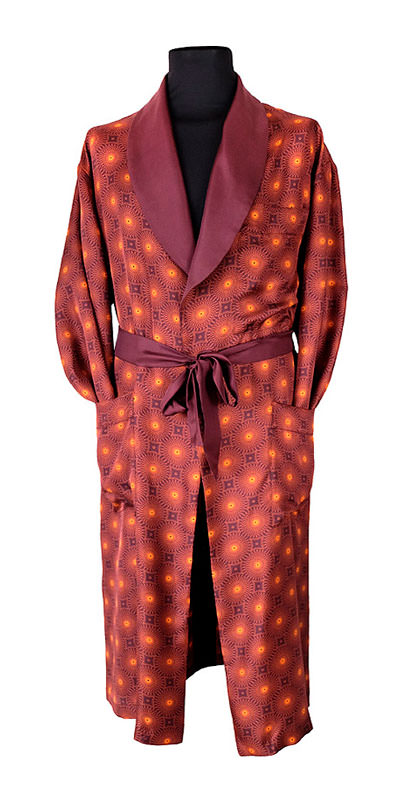 The 'Sunburst' gentleman's dressing gown by Geoff Stocker