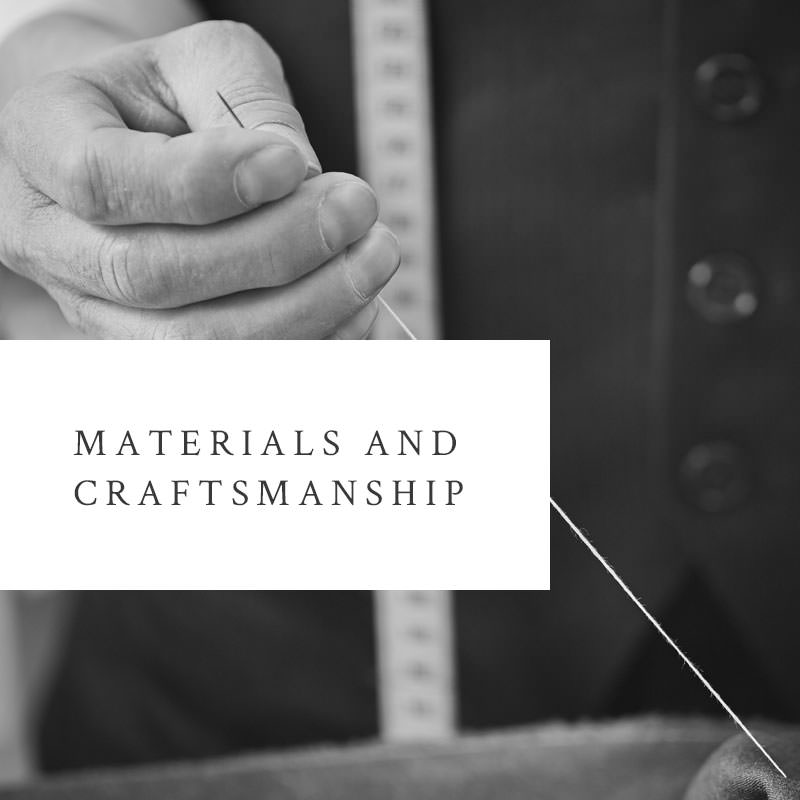 About Geoff Stocker's materials and craftsmanship