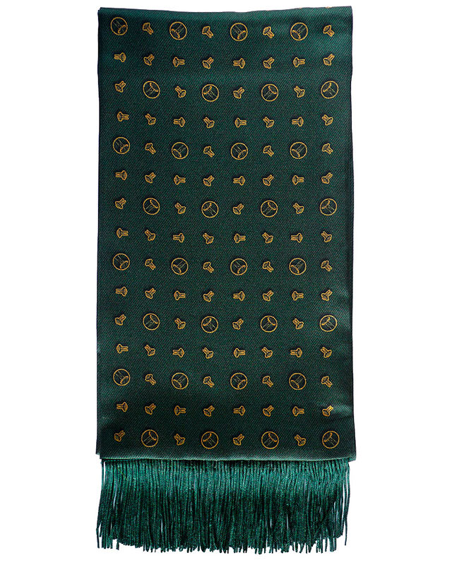 The 'Compass Point' silk scarf by Geoff Stocker