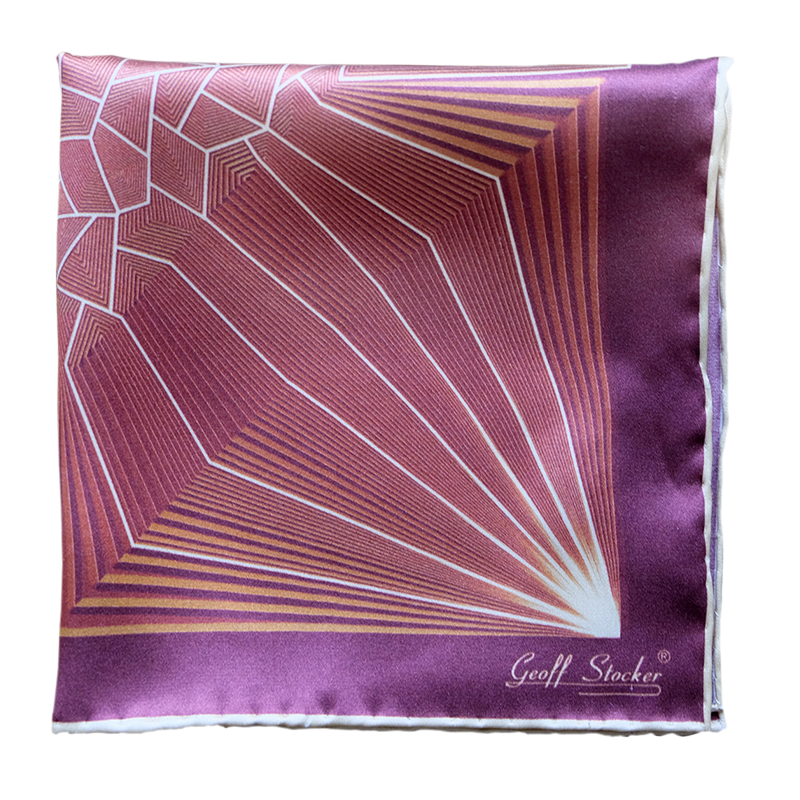 The 'Neutron' silk pocket square by Geoff Stocker