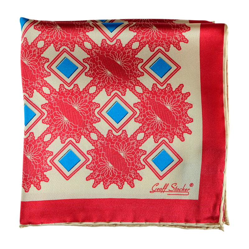 The 'Nova' silk pocket square by Geoff Stocker