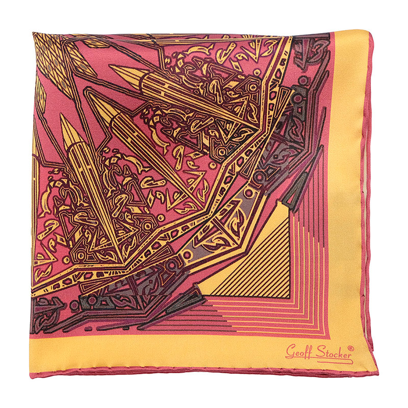 The 'Basilica' pocket square by Geoff Stocker